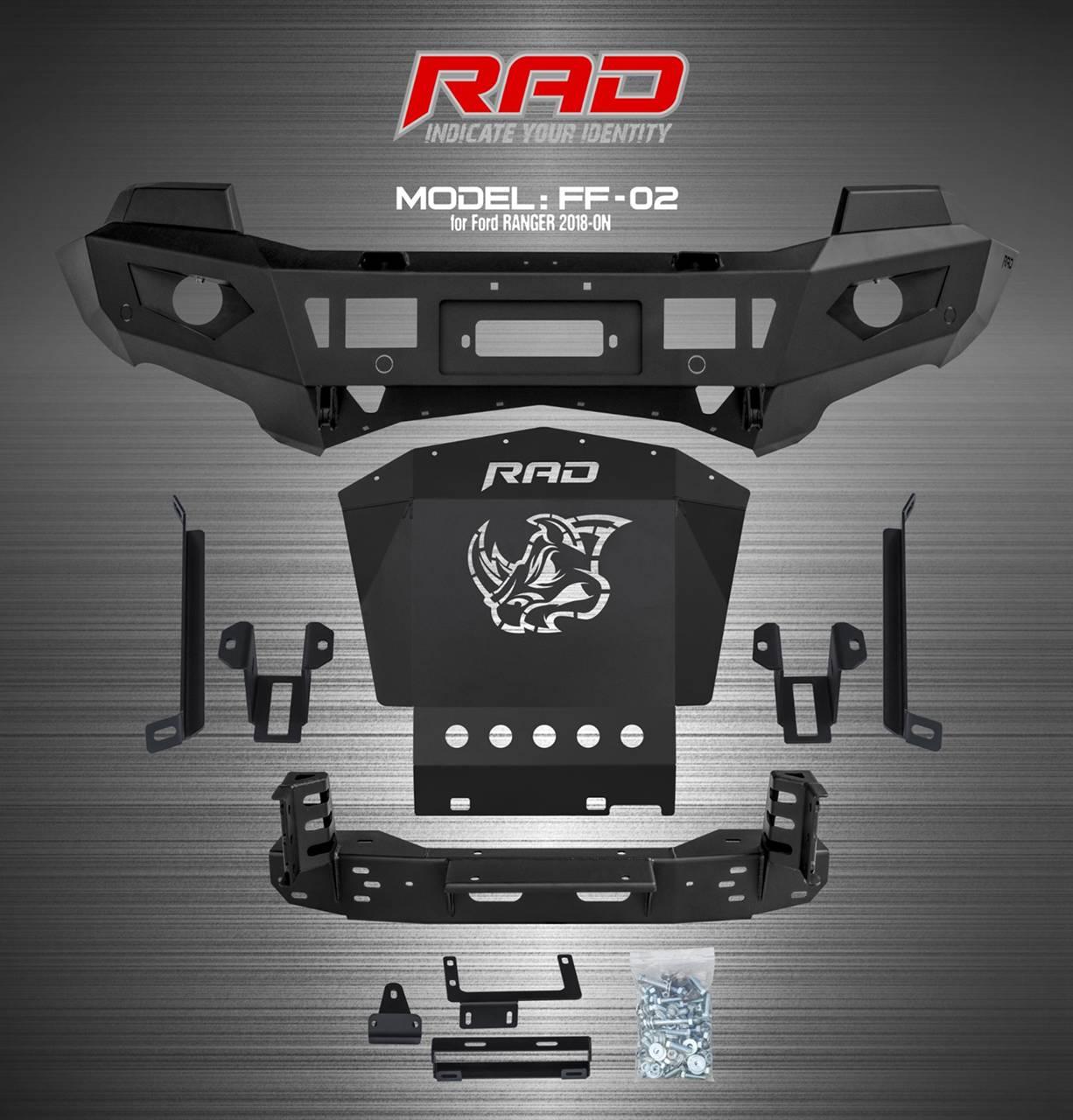 RAD Bumper Model:FF-02 for Ford Ranger 2018-ON