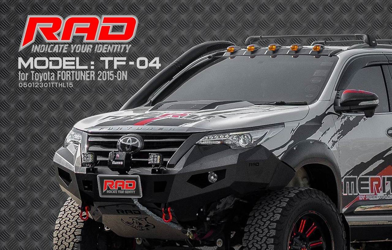RAD Bumper Model: TF-04 for Toyota Fortuner 2015-ON