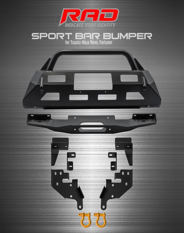 RAD Sport Bar Bumper for Toyota Hilux, Revo, Fortuner